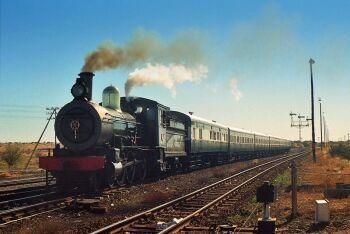 Transnet Heritage Class 6J 645 on Kimberley De Aar Line, De Aar, Upper Karoo & Hantam Karoo, Northern Cape