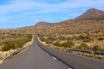 R381 road from Loxton to Beaufort West, Upper Karoo & Hantam Karoo, Northern Cape